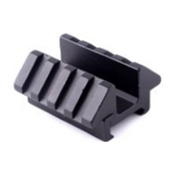 Tactical Dual 45 Degree Angle Offset Rail Mount 4 Slot