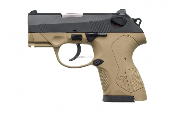 WE Bull Dog S Gas Pistol ( 2 Magazine / Tan )