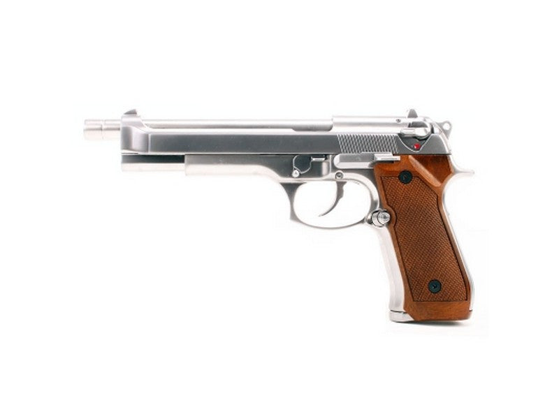 WE M92 L Chrome( Brown Grip ) - Phoenix Tactical