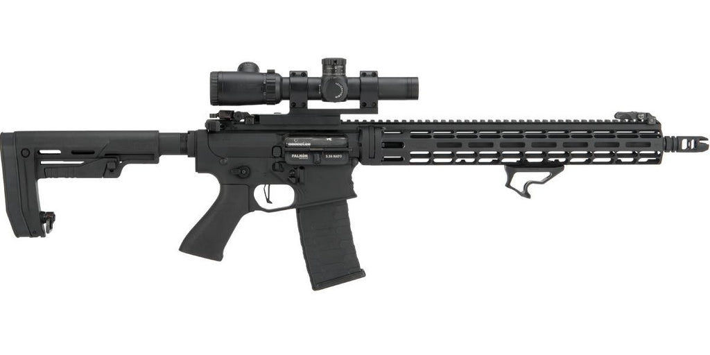 EMG Falkor AR-15 RECCE M4 Airsoft AEG Rifle (Color: Black Out)