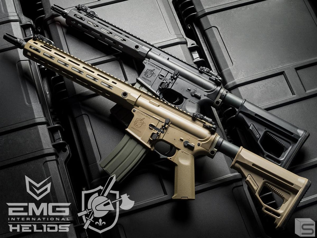 Helios Knight's Armament Licensed SR-16E Mod2 MLOK Airsoft AEG Rifle (Model: Carbine / Black)