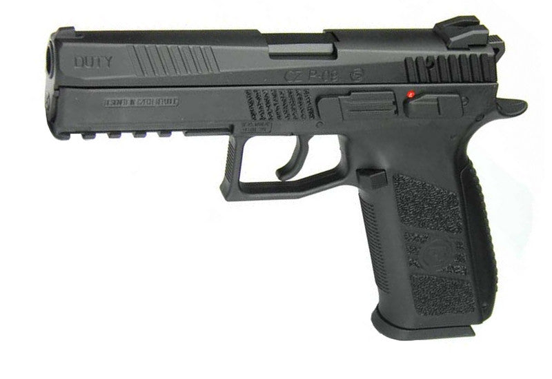 KJWorks CZ P-09 Gas Blowback Metal Slide Pistol ( P-09 / Black )