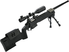 PDI Custom S&T USMC M40A3 Bolt Action Airsoft Sniper Rifle w/ PDI Internals (Model: Black) - Phoenix Tactical