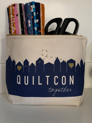 QuiltCon Together Brass Zippered Pouch