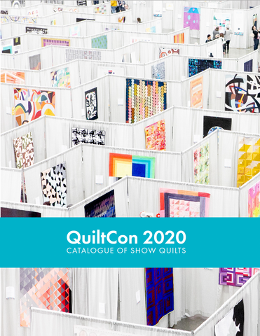 QuiltCon 2020 Catalogue of Show Quilts Cover - photo of quilt show in Austin, TX