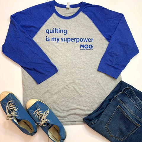 Quilting is My Superpower Baseball T