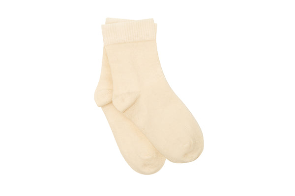 Organic Cotton Socks, Natural Ecru - Undyed