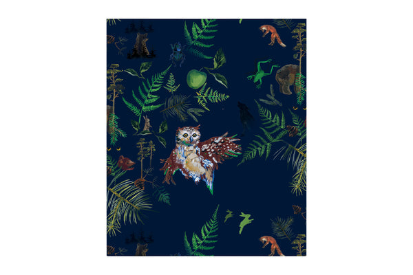 Vild Lab No.7 - Night Forest, Organic Cotton Blanket
