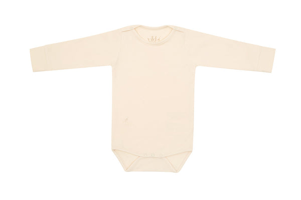 Ecru Organic Cotton Bodysuit