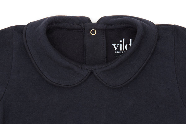 Nocturnal Navy, Organic Cotton Collared Shirt
