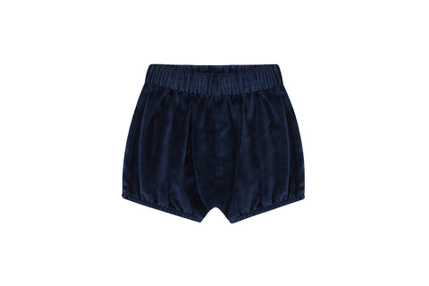 Organic Cotton Velvet Bloomers, Navy Blue
