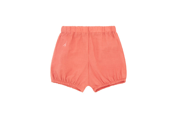 Natural Madder Plant, Organic Cotton Woven Bloomer Shorts