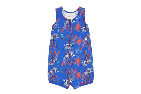 Vild Lab No.8 - Rare Living Lobsters, Organic Cotton Romper