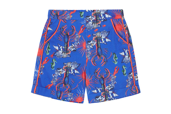 Vild Lab No.8 - Rare Living Lobsters, Organic Cotton Shorts