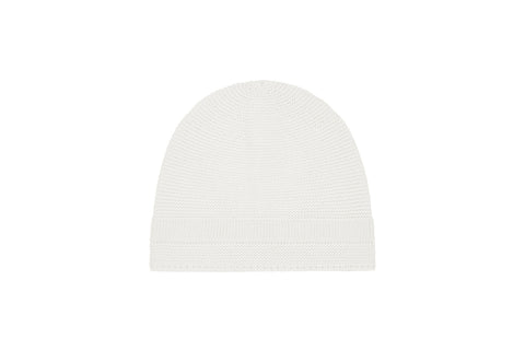 Ecru Organic Cotton Knit Hat