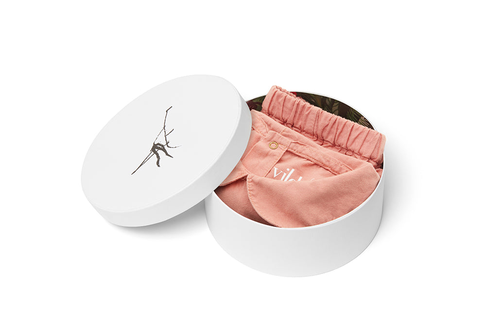 Lazy Pink, Organic Cotton Woven Collared Shirt and Trousers - Gift Set