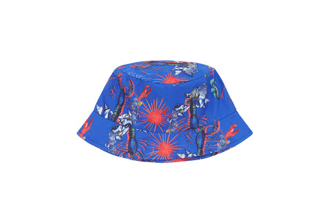 Vild Lab No.8 - Rare Living Lobsters, Organic Cotton Woven Sun Hat