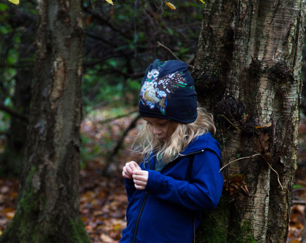 Vild Lab No.7 - Night Forest, Organic Cotton Beanie Hat