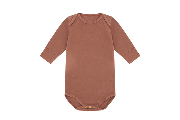 Organic Cotton Bodysuit, Natural Clay Pink - Beetroot Dye