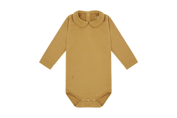 Long Sleeve Collared Bodysuit - 3 Piece Gift Set