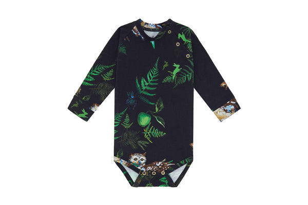 Vild Lab No.7 - Night Forest, Organic Cotton Bodysuit