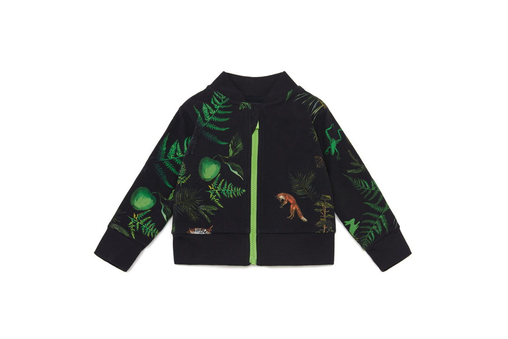 Vild Lab No.7 - Night Forest, Organic Cotton Bomber Jacket
