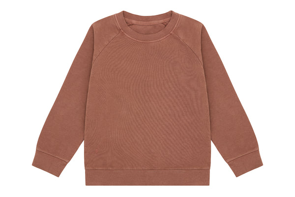Italian Fleece Organic Cotton Pullover, Natural Clay Pink - Beetroot Dye