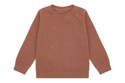 Organic Cotton Pullover, Natural Clay Pink - Beetroot Dye
