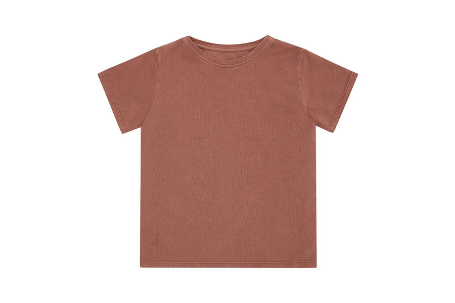 Organic Cotton T-Shirt, Natural Clay Pink - Beetroot Dye