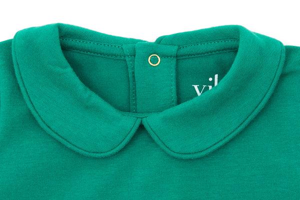 Happy Green, Organic Cotton Collared Bodysuit