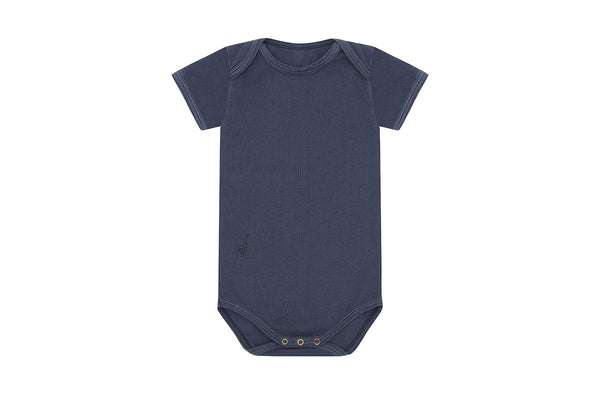 Natural Stone Blue - Palmetto Dye, Organic Cotton Bodysuit