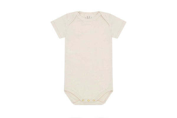 Organic Cotton Bodysuit, Natural Ecru - Undyed
