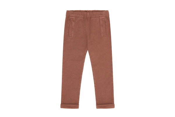 Italian Fleece Organic Cotton Trousers, Natural Clay Pink - Beetroot Dye