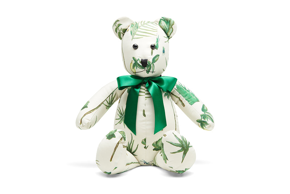 Upcycled Teddy Bear - Organic Woven Cotton