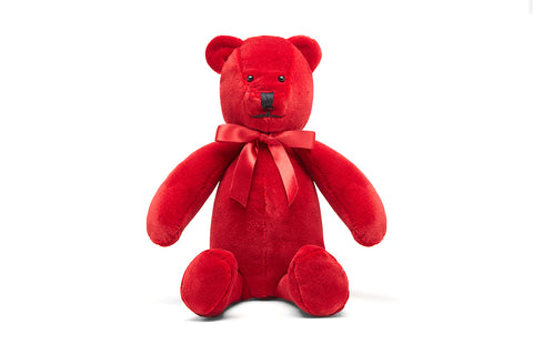 Upcycled Teddy Bear - Organic Cotton Velvet