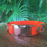 Side Release Adjustable Dog Collar Glossy Finish