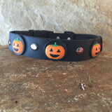 Halloween Collar Pumpkins on Black