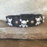 Halloween Collar Skull & Crossbones on Black