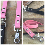 Matte bubblegum pink dual handle leash