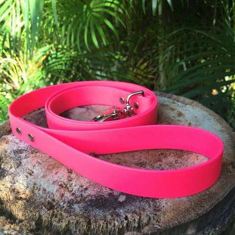 Matte bright pink leash