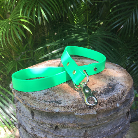 Matte bright green short leash