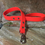 Matte bright orange short leash