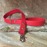 Matte bright red short leash