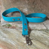 Matte bright teal short leash