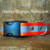 Glossy orange reflective collar