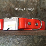 Glossy orange collar