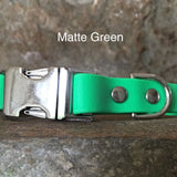 Matte bright green collar