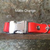 Matte bright orange collar