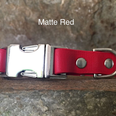 Matte bright red collar