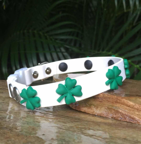 St. Patrick's Day Dog Collar Matte Finish